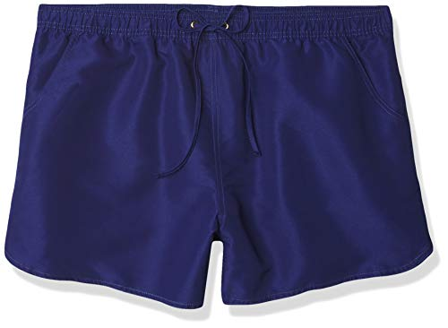 24th & Ocean Women's Board Swim Short Bikini Swimsuit Bottom, Navy//Solid, X-Large