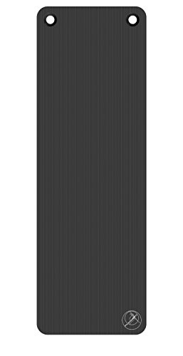 Trainingsmatte - Trendy Sport ProfiGymMat - Therapiematte mit Ösen - 180 x 60 x 1,0 cm, anthrazit