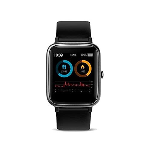 SPC Smartee Vita - Smartwatch Waterproof 5ATM, monitoriza hasta 11 Deportes, autonomía de hasta 12 días. Color Negro