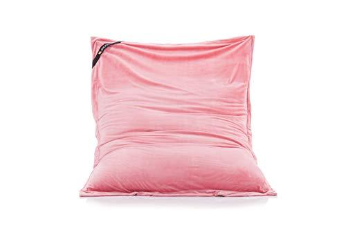 Unbekannt Smoothy Sitzsack Classic Samt Rosa