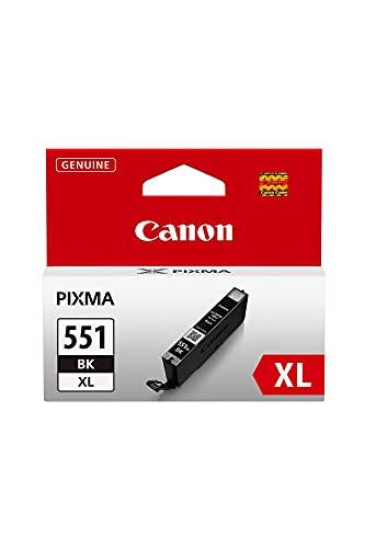 Canon CLI-551XL Cartucho de tinta original Negro XL para Impresora de Inyeccion de tinta Pixma MX725-MX925-MG5450-MG5550-MG5650-MG6350-MG6450-MG6650-MG7150-MG7550-iP7250-iP8750-iX6850