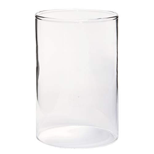 Varia Living Glaszylinder ohne Boden für Windlicht Ersatzglas | für draußen und innen | offenes Glasrohr Groß | Durchmesser 10 cm, Höhe 15 cm | transparent (Ø 10 cm/H 15 cm)