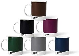 Pantone BecherSet3 Porcelain Mugs Set of 6 375 ml Coffee Cups with Handles Dishwasher Safe Natural