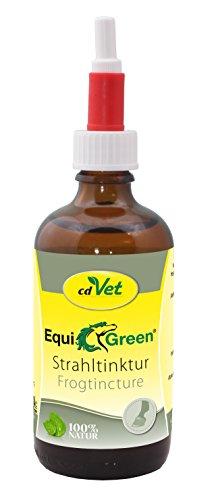 cdVet Naturprodukte EquiGreen Strahltinktur 100 ml - Pferd - Pflegemittel - Strahlfäule - Sauberkeit + Pflege - Sohle + Strahl der Hufe - Probleme - Regeneration - Wohlbefinden - 100% natürlich -