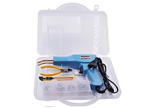 Mighty Welding Staple Repair Set,Soldador De Plasticos Con Grapas Profesional Coche,Car Bumper Repair Plastic Welding Welder Gun Kit (Blue)