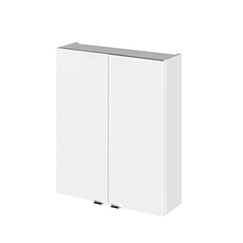 Hudson Reed Gloss White 500 Wall Unit OFF155 Fusion-Mobiletto da parete moderno da bagno con 2 ante a chiusura morbida, 715 x 500 x 182 mm, bianco lucido, Legno fabbricato, 500 mm