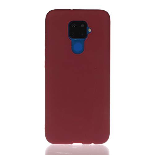 HopMore 3 verpakkingen voor Huawei Mate 30 Lite Soft siliconen patroon kleur, Huawei Mate 30 Lite, Rode Wijn
