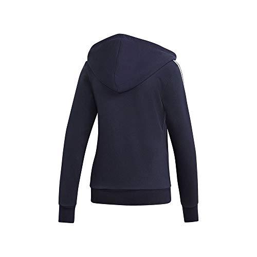 adidas adidas Damen Hoodie Essentials 3-Streifen Hoodie, Legink/White, 2XS, DU0656