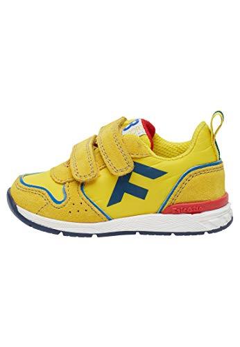 Falcotto HACK VL.-Sportlicher Sneaker aus Funktionsgewebe-Gelb-Azurblau gelb 23