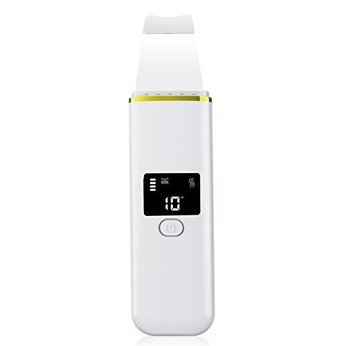 4-In-1-Ultraschall-Hautwäscher - 4-Modi-Gesichtsspatel Mit LCD-Display, Ionen-EMS-Schaber Zur Poren-Tiefenreinigung,...