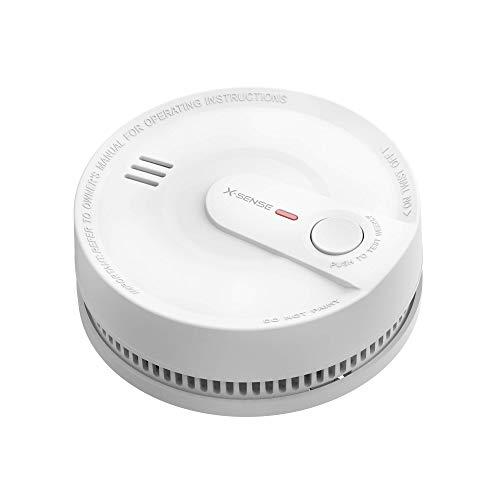 X-Sense Rauchmelder 10 Jahres Batterie, intelligenter Feuermelder, 5 Fach Schutz vor Fehlalarm,...