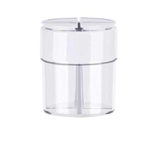 Frascos De Almacenamiento De Cocina, Caja De Condimentos, Plástico Transparente, 4 Rejillas, Pimiento, Especiador, Sal, Condimento, Frasco, Botella De Condimentos