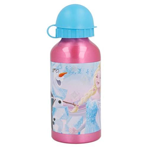 Frozen - Die Eiskönigin Anna Elsa Kristoff Olaf Kinder Aluminium Trinkflasche