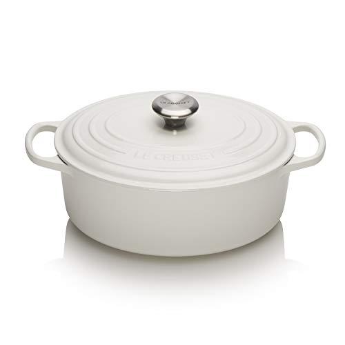 Le Creuset Enameled Cast Iron Signature Oval Dutch Oven, 5 qt. , White