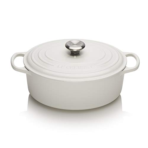 Le Creuset Enameled Cast Iron 5-Quart Oval Dutch Oven, White