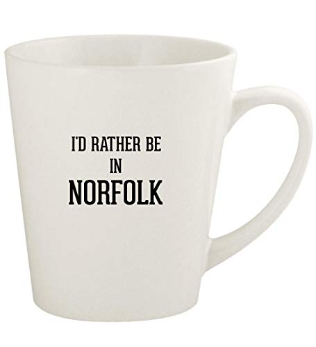 I'd Rather Be In NORFOLK - 12oz Ceramic Latte Coffee Mug Cup, White