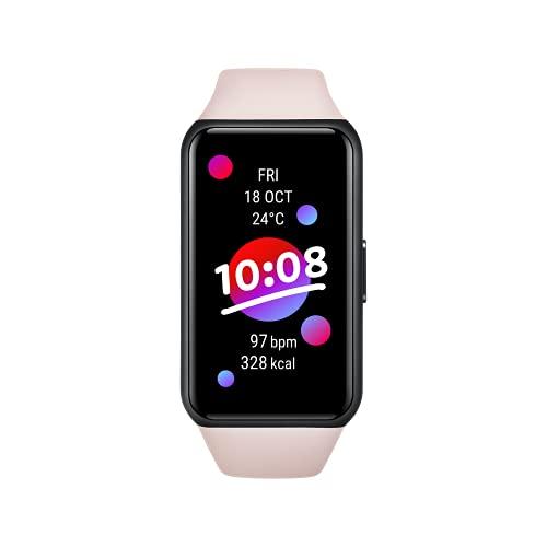 HONOR Band 6 Fitness Armband, 1,47'' AMOLED Display, Tracker mit Pulsuhr, Herzfrequenz- und SpO2-Überwachung, 2 Wochen Akkulaufzeit, 5ATM, Schrittzähler, Coral Pink