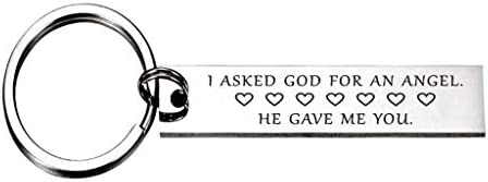 I Asked God for an Angel He Gave Me You Keychain Gift for Her Wife Girlfriend Daughter product image