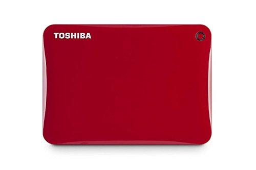 Toshiba Canvio Connect II 2TB USB 3.0 External Hard Drive (Red)