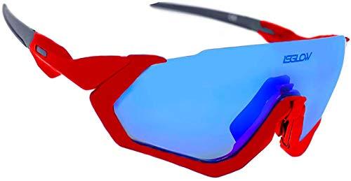 Gafas ciclismo. Polarizadas Flight Jacket. 4 Lentes intercambiables visión nítida y clara, sistema antivaho, resistentes a impactos.Protección UV400. Ideales para Running, Esquí, MTB, Triatlon