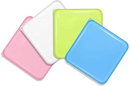 4 Stück Reinigungsbox,Flache Kunststoffbox,AufbewahrungStasche Klein,Aufbewahrungsbox Tragbare