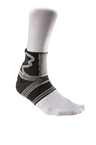 McDavid Elite Engineered Elastic Achilles Tendon Ankle Sleeve with Compression Ankle Support for Relief from Achchilles Tendonitis, M, BLACK