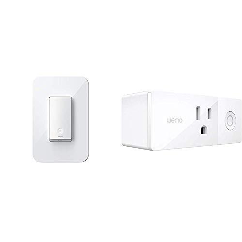 WeMo Smart Light Switch 2ND Gen Bundle with Wemo Mini Smart Plug, WiFi Enabled, Works with Alexa, Google Assistant &...