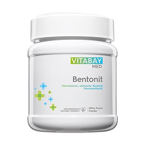 Vitabay Bentonit Pulver (500 g) • Ultrafein • Bis zu 96% Montmorillonit • Tribomechanisch mikronisiert und aktiviert • Pharmaqualität