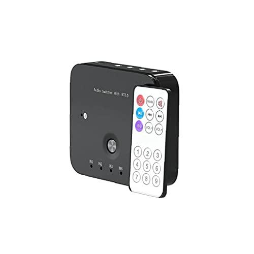 Switcher de audio de 3.5mm y receptor de audio inalámbrico 3 en 1 AUTRO AUDIO ADAPTADOR 3.5MM STEREO AUX Switcher con control remoto