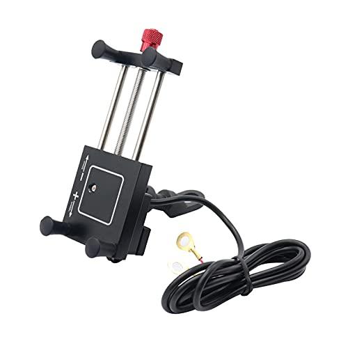 CSQIANG - Cargador USB giratorio de 360 ° para manillar de moto de montaña