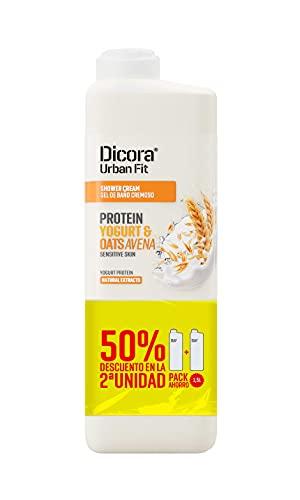 Dicora Urban Fit Gel de Baño Proteins Yogurt & Avena 750 ml (Pack Ahorro)