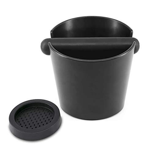 KYONANO Abklopfbehälter, Abschlagbehälter Siebträger Zubehör, Hochwertiger Abklopfbehälter für Siebträger, Knock Box, Espresso Abklopfbehälter, Abschlagbox für Kaffeesatz inkl. Kaffee Tampermatte