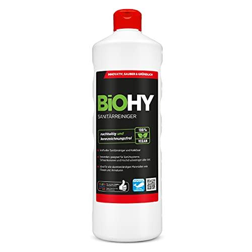 BiOHY Detergente per bagno (Bottiglia da 1l) | Concentrato decalcificante per ambienti sanitari |...