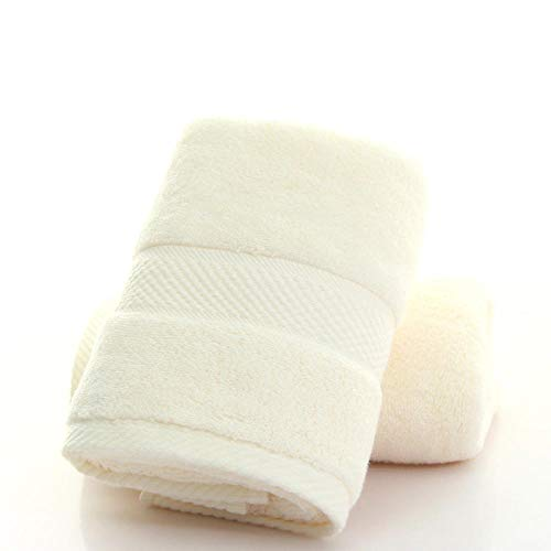 kangqp Towels 40 Cotton Towels To Increase Thickening 140G Combed Plain Towels Skin-Friendly, Breathable, High-End Sports Beige