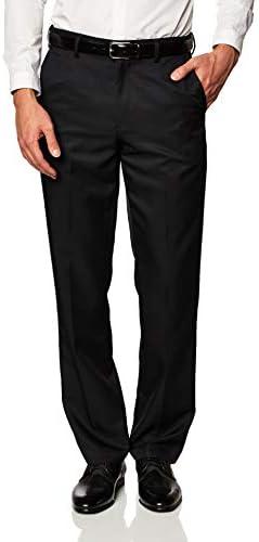 Amazon Essentials Men s Expandable Waist Classic Fit Flat Front Dress Pants Black 38W x 34L product image