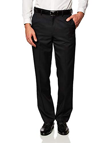 Amazon Essentials Expandable Waist Classic-Fit Flat-Front Dress Pants, Negro, 29W x 34L
