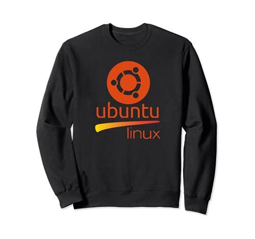 Ubuntu Linux amante Tee con lema y Logo Open Source Os Sudadera