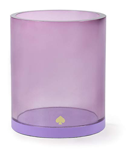 Kate Spade New York Purple Acrylic Office Supplies Desk Organizer Pencil Cup, Colorblock