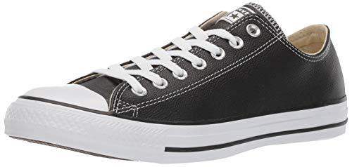 Converse Chuck Taylor Core Lea Ox, Unisex - Erwachsene Sneaker, Schwarz (Black), 43 EU