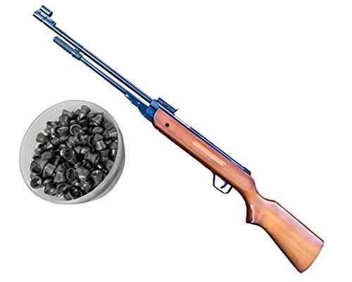 Isaazon New Heavy Duty Air Pellet Guns Rifle B3-1 Calibre 4.5mm 650-600 FPS Wood Handle + 200 Pellets Package