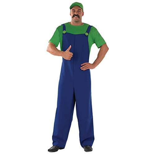 Fun Shack FN2280S Costume, Mens, Luigi, Small
