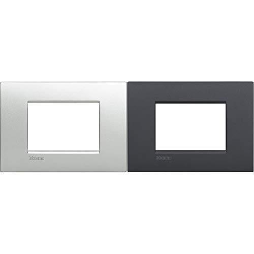 Bticino LNC4803TE Placca Livinglight Air 3 Moduli, Tech & Livinglight Air Placca, 3 Moduli, Antracite