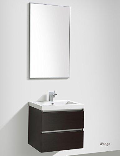 Wunderbad Badmöbelset 'Soho' 60cm mit Waschtisch, Unterschrank und Spiegel: Weiss Hochglanz
