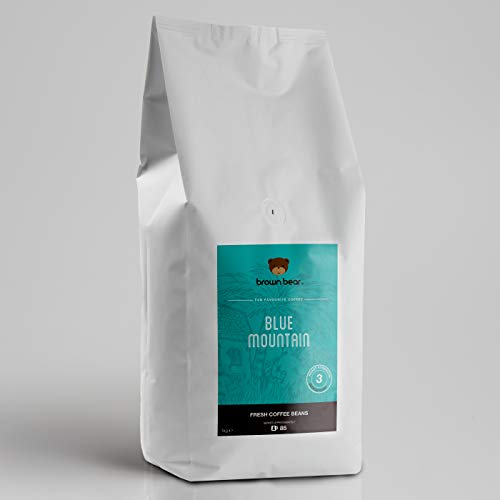 Brown Bear Blue Mountain Kaffeebohnen, Mittlere Röstung, 1 kg Kaffee Ganze Bohnen Medium Roast Coffee Beans