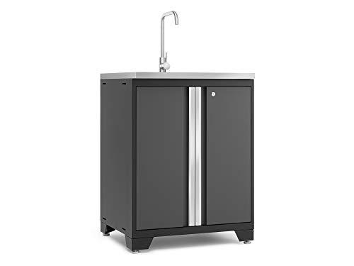 NewAge Products Pro Grey Garage Sink, Garage Cabinet, 52014