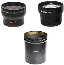 Wide Lens + Tele Lens + Tube bundle for Sony DSC-HX100, Sony HX100V, Sony DSC-HX200, Sony HX200V