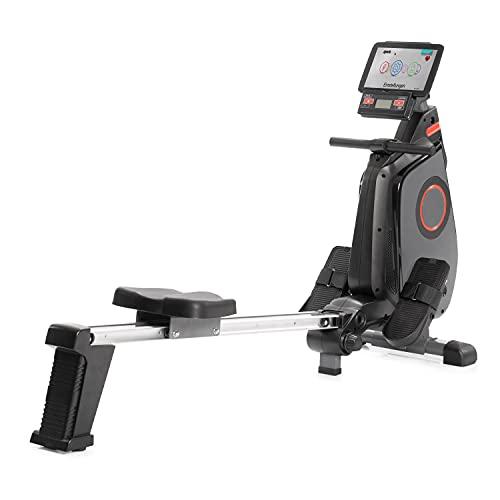 SportPlus Ruderergometer klappbar für zuhause - 24 Stufen & 6 Trainingsprogramme, leises Magnetbremssystem, Rudergerät mit Trainingscomputer & App-Steuerung, TÜV-geprüft, SP-MR-030-iE
