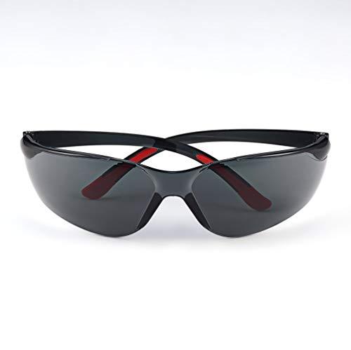 WEQQ PC Gafas de Seguridad Gafas Protectoras para Motocicleta Niebla, Polvo, Viento, Salpicaduras (Gris)