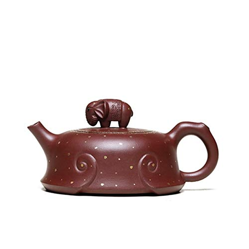 Tetera ShanShan Mu Ore hecha a mano famosa de arcilla morada Tetera Tetera Tetera Elefante Barro morado