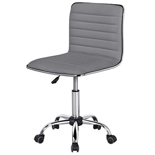 Yaheetech Bürostühle höhenverstellbarer Drehstuhl ergonomisch Schreibtischstuhl 360° drehbar aus Kunstleder